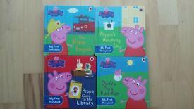Set of 4 hardback Ladybird Peppa Pig books