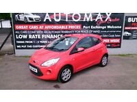 2012 MK 2 FORD KA 1.2 EDGE RED MARCH 2018 MOT NEW SERVICE CD +AUX E/W E/M R/C/LOCKING + £30 TAX