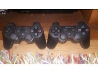 PS3 Slim with two genuine controllers