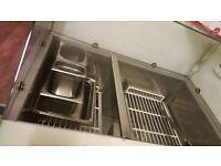 Prep stainless steel fridge