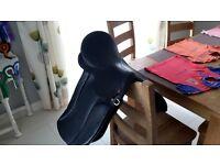 Windsor Black Leather Saddle