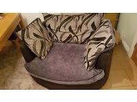 Round sofa and large 2/3 seater sofa