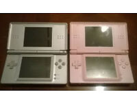 x2 DS Lite Consoles and Charger - Spares and Repairs / Broken / Bricked