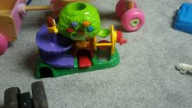 Musical tree house with play ball