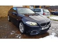 BMW 5 SERIES 520D 2012 M SPORT 1 OWNER BMW SERVICE HISTORY MOT JUNE TOP SPEC £7K FACTORY EXTRAS