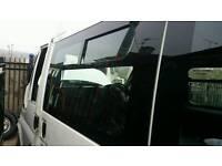 Transit mini bus window