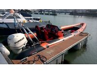 RIB BOAT Mark Pascoe SR7 Sports Rib and Trailer (NO ENGINE)