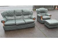 three seater chair footstool good condition can deliver