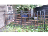 Antique Victorian Iron Driveway Gates - Hand Made by Blacksmith - 1900,s