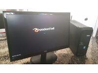 """Packard Bell i5 4400 Windows 10 8gb ram 1TB HDD DVDrw 21.5"""" FULL HD Monitor Desktop Computer PC"""