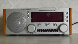 clock radio not been used taking up space looks nice. very useful
