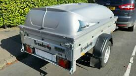 Brenderup 1205s galvanised trailer with lid good condition