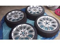 BMW MV 2 M-TECH ALLOY WHEELS REPLICA WITH TYRES FOR 1.3&Z SERIES BALANCED UP