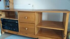 Pine coffee table and pine media unit