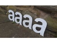 "Vintage Retro Reclaimed Salvage Shop Letters Pub Sign Industrial A a Letter ""A"""