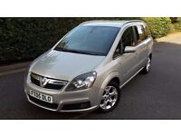 2005 VAUXHALL ZAFIRA 1.9 CDTI DIESEL,ONLY 88.000mil.7 SEATER,6 SPEED,HALF LEATHER,VERY GOOD COND.