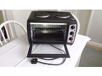 Andrew James mini oven and grill with double hob