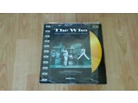 the who - video laser disc 80's