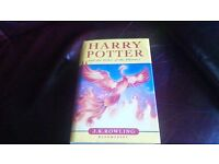 Harry Potter and the Order of the Phoenix Hardback 1st Edition