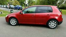 GOLF GT TDI + AUTOMATIC + DIESEL + 2.0cc + 5 DOOR + RED + HPI CLEAR + SERVICE HISTORY + LONG MOT +