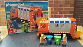 Playmobile Dustcart with crew, instructions and box