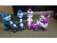 2 x no fear roller boots