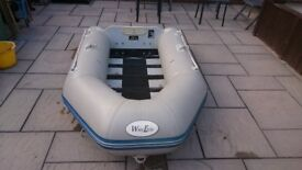 INFLATABLE DINGHY DINGHY TENDER RIB SIB BOAT WILL TAKE OUTBOARD