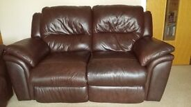 3+2 Sofa(Recliner) Genuine leather.Price further reduced.
