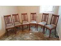 6 Dining chairs - free local delivery available