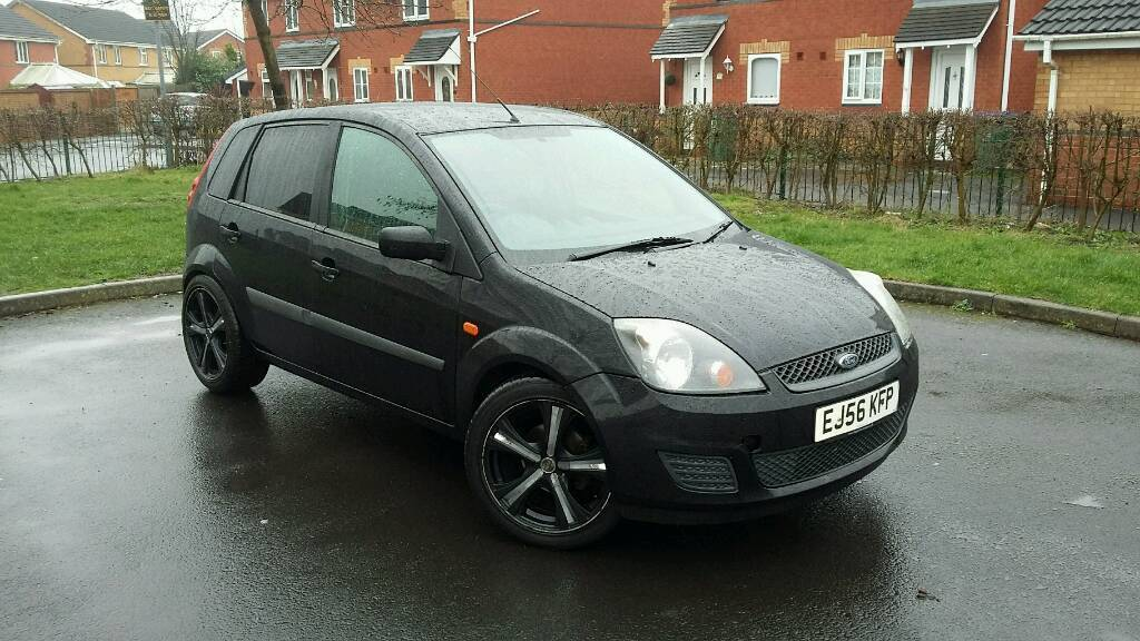 2006 ford fiesta 1 4 style facelift mk6 black with black n chrome alloys full mot drives like. Black Bedroom Furniture Sets. Home Design Ideas