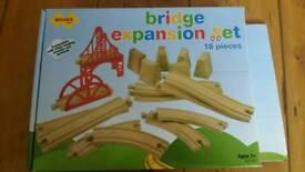 Big jigs rail wooden bridge expansion set