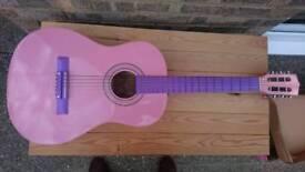 Guitar digital tuner. 36inch Classic junior guitar and digital tuner