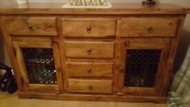 Solid acacia wood sideboard