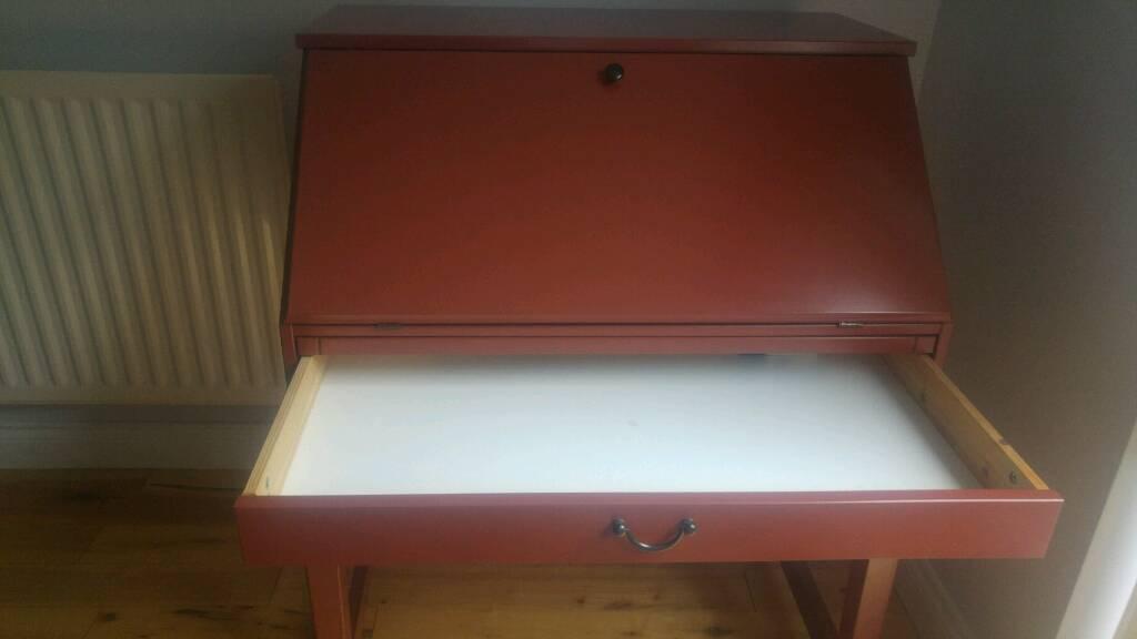 Ikea red bureau desk h cm w cm d in bonnybridge