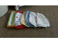 6 brand new burping cloths.
