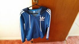 Adidas Hooded Sweatshirt (Hoodie) Light Blue Size Small in Very Good Conditon!