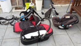 Graco Symbio B Travel System 3 IN 1: Carry Cot, Pushchair And Car Seat
