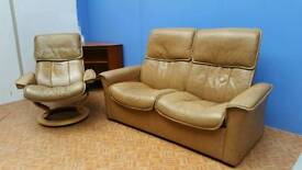 Ekornes 2 seater and recliner