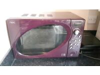 Next purple kettle toaster and microwave