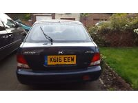 2000 HYUNDAI ACCENT COUPE 1.3i Auto; Blue; Very Low Mileage; Good engine condition