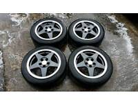VW SPEEDLINE 15 INCH ALLOY WHEELS 5X100 VW POLO GOLF LUPO SEAT SKODA FABIA AUDI A2