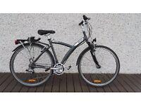Hybrid Mens Bike (fully kitted). Decathlon Original Night and Day.