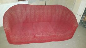 Red 2 seater sofa
