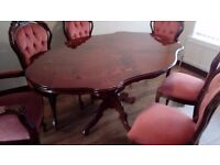 House clearence. Table and chairs.