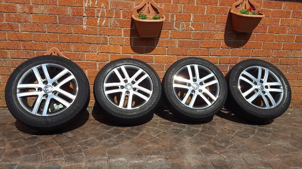 genuine oem alloy wheels vw atlanta golf caddy touran kbm   mk  crewe