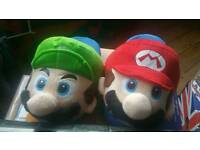 Brand new size 6-9 Mario slippers
