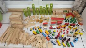 LARGE Wooden Train Set