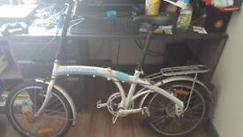 Proteam folding bike and bike lock