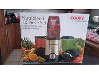 Nutriblend Premium Blender Smoothie Maker Juicer with 10-piece