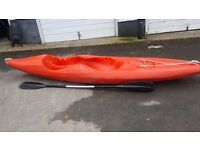 Rare sit on kayak with side supports & paddle